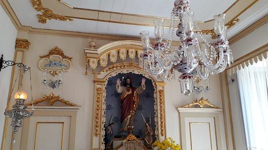 Igreja Nossa Senhora das Merces: Detalhes da Capela do Sagrado Coração de Jesus