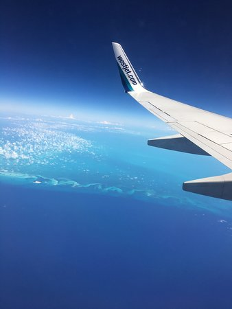 WestJet: On the descent to Jardines Del Rey airport in Cayo Coco.