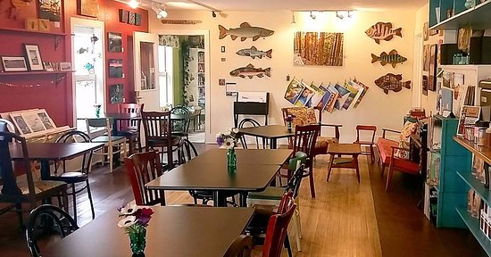 A cozy place to meet and enjoy local coffee, food, and art!