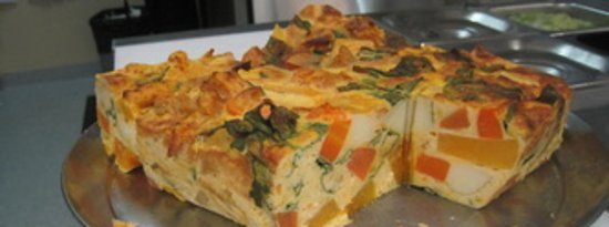 Debbie's Deli: Debbie's homemade Frittata! Wholesome vegetarian option. Great hot or cold lunch option and available to purchase as a whole