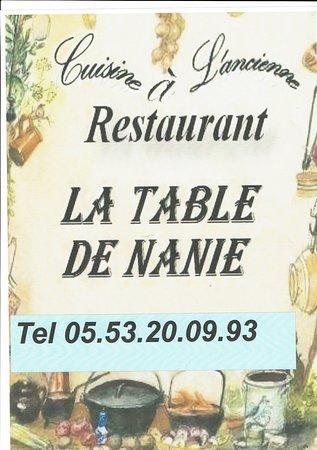 restaurant la table de Nanie