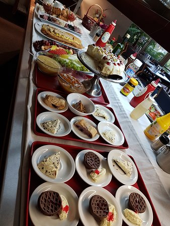 Our buffet includes soup, entree, mains and dessert  and changes its theme each night