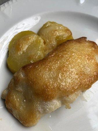 Restaurante las Délices de France :  Bacalao con alioli gratinado
