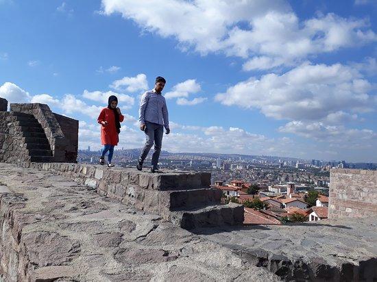 Ankara Castle: Be careful if walking the walls