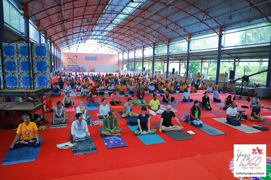 Mysuru (Mysore), India: Yoga is all about disipline and bliss , Our gurus at the www.IndianYoga.School coach it best.