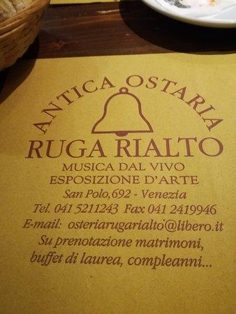 Antica Osteria Ruga Rialto – fénykép