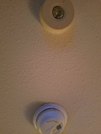 "They did get to change the ""smoke detector but not the other one. Good thing they both started white."