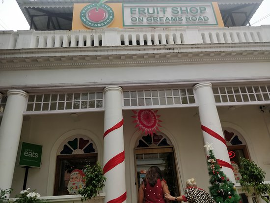 Fruit Shop On Greams Road, Puducherry: outside the eatery