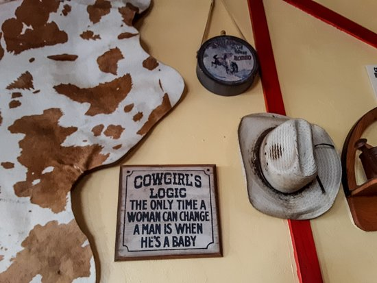 Horseshoe Cafe: Cowgirl logic