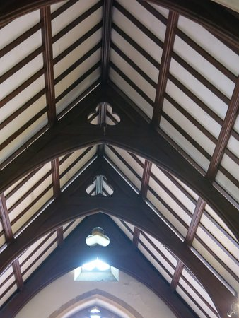 The Parish Church of St Mary's Chilham: Church ceiling.