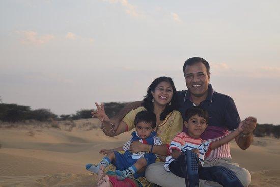 Aamantran Tours: Enjoying sunset in Desert