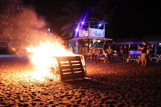 Monday Seafood Madness & Bonfire