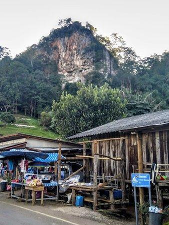 Stalls line the road at Pang Mapha Viewpoint