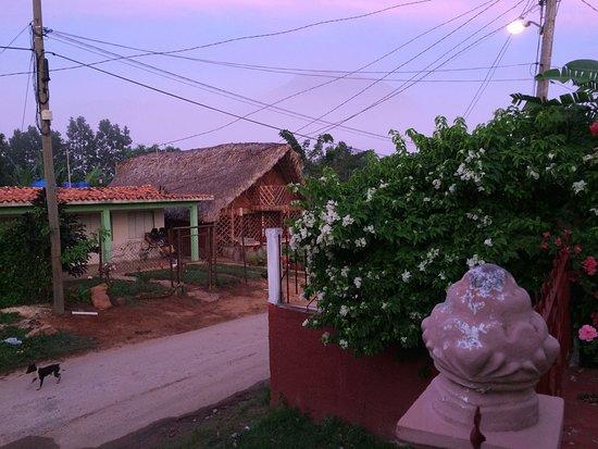 Villa EL Fausto. Tata: Misty sunrise with view over a mogote. Photo taken from veranda
