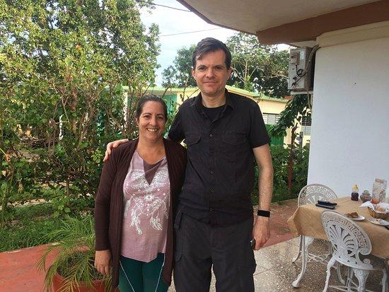 Villa EL Fausto. Tata: Our lovely hostess, Tata, on the left