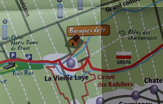 Baraques du 14: Le plan du site