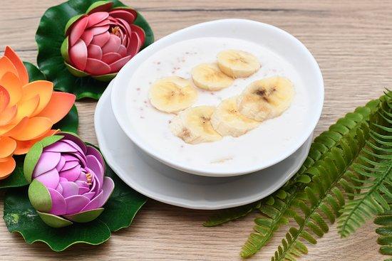 Dessert maison : Tapioca lait de coco et bananes !!