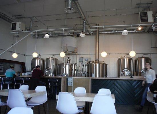 Land & Sea Brewing Company: Beer tanks