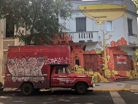 Small-Group Buenos Aires Graffiti Art NorthTour: love the truck with the wall