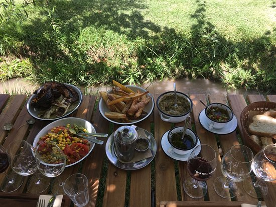 Delicious farm lunch