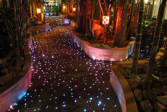 Lights in footpath