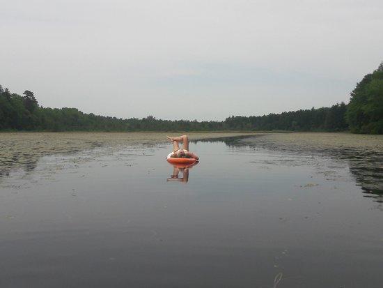 Clayton, NJ: paddleboarding at Scotland run