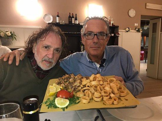 Nuova Osteria Fioni: Fritto perfetto. Fabio Cremona ( il presidente)