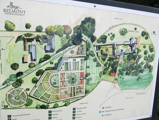 Map And Layout Picture Of Belmont House And Gardens Faversham