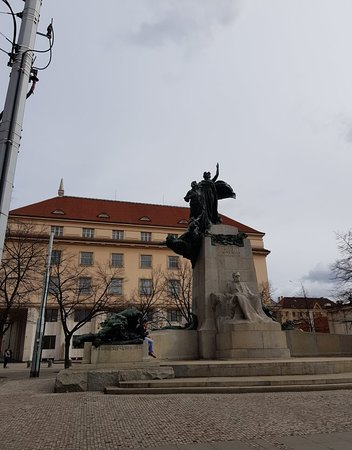 Square Of Palacký in New Town.