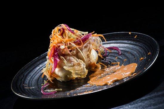 Ikea Restaurante: Pan bao relleno de mantequilla de habanero, papada ibérica y encurtidos.