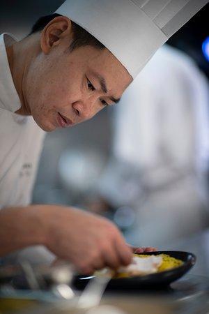 Chef preparing delicious entree