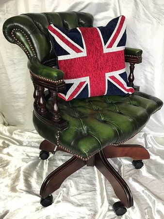 For Sale Handmade Leather Chesterfield Style Captains Office Swivel Chair Antique Green Picture Of Cheshire Antiques Consultant Chester Tripadvisor