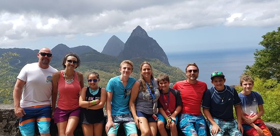 Discover Soufriere: Viewing of Twin Pitons