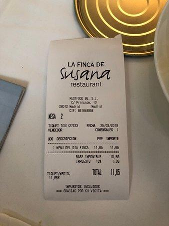 Carta Bild Von La Finca De Susana Madrid Tripadvisor