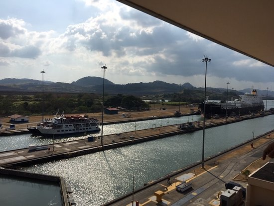 Panama City Tour includes: Mira flores locks, amador causeway, Casco Antiguo: Mira Flores Locks on Pacific side, Panama City.