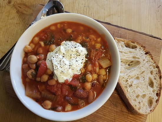 Natural Bread: Chickpea and Spinach stew is a firm favourite for many of our regular customers