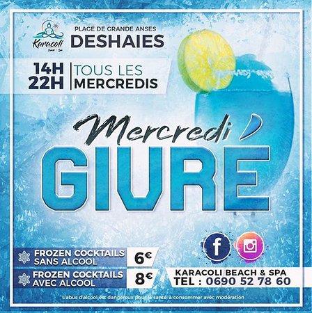 Pour tous les fans de cocktails frozen : nous vous proposons le Mercredi Givré !