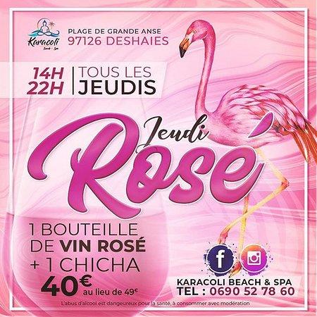 Pour tous les fans de vin rosé : nous vous proposons le Mercredi Givré !