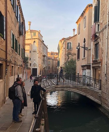 Andrea walking us through Venice and teaching us about the architecture and history of this amazing city.
