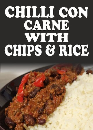 Star Nergis Cafe: Home Made Chilli Con Carne with Chips & Rice