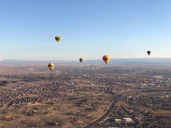 Albuquerque Hot Air Balloon Ride at Sunrise: A beautiful morning for ballooning