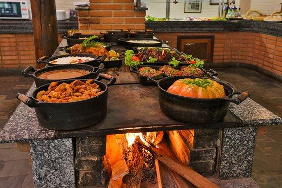 Almoço do Hotel Fazenda Campo dos Sonhos
