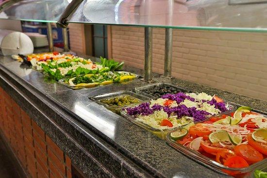 Saladas do Almoço do Hotel Fazenda Campo dos Sonhos