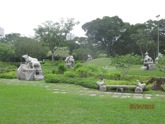 Chinese and Japanese Gardens: There are very nice Chinese zodiac statues
