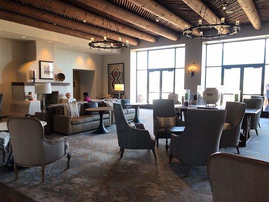 Hyatt Regency Tamaya Resort & Spa: Lounge area with fireplaces