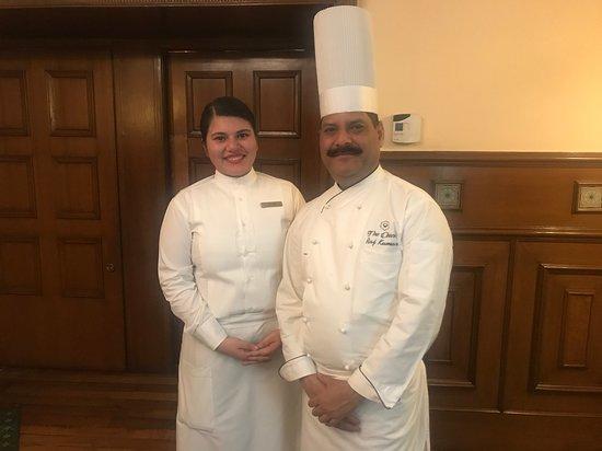 The Oberoi Cecil, Shimla: Chef Raj Kumar and assistant Kashish