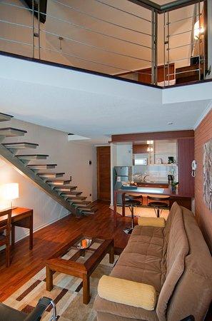 Loft. Living area - Kitchenette