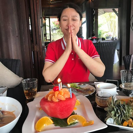 Thank you for coming to celebrating your birthday with us  Happy birthday to you all the best #Ricerestaurant #baanyindee #elegance #luxury #BYD #HBD #patongbeach #tripadvisor #phukethotels #amazingthailand www.baanyindee.com