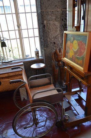 Frida's wheelchair and work area