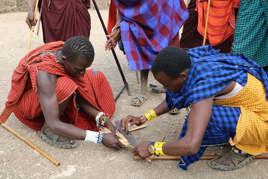 Ngorongoro Conservation Area, Tanzania: was good moment with our clients in ngorongoro the way going to serengeti  national park we visited one of masai village  we had story ,information  about how to make fire and dancing with them